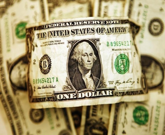 Средний курс продажи наличного доллара США в банках Москвы достиг минимального значения за месяц и составляет 73,8426 руб.