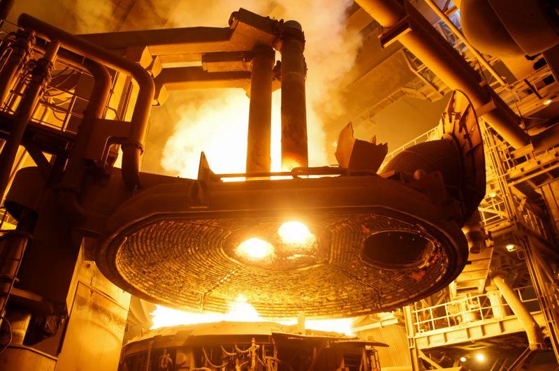 НЛМК увеличила производство стали на 4% в 1 кв г/г