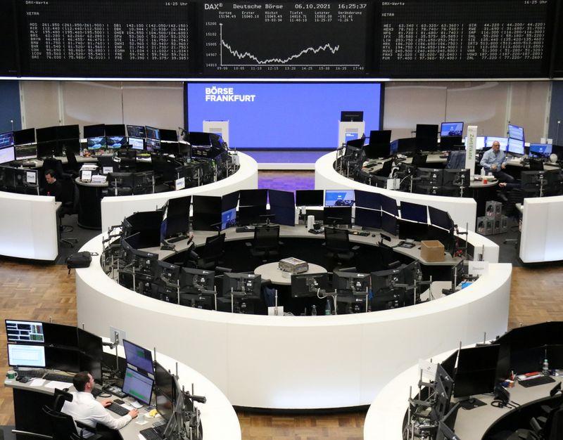 Европейские акции идут в рост на фоне снижения цен на энергоносители