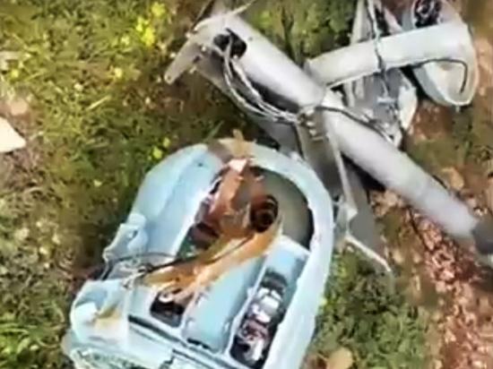 Сирийские СМИ показали сбитый российский беспилотник «Форпост-Р»