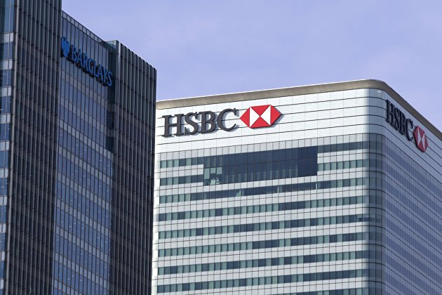 Чистая прибыль HSBC за прошлый год упала более чем на треть